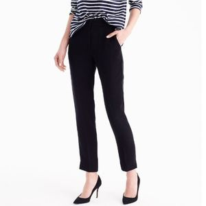 J.Crew Pull-on Easy Pant in Matte Crepe black NWT